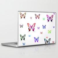 butterflies Laptop & iPad Skins featuring Butterflies. by haroulita