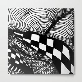 Zentangle #21 Metal Print