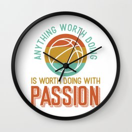 Basketball passion Wall Clock