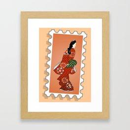 Beauty looking back. Framed Art Print