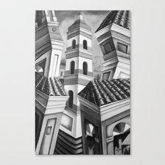Remedios Cuba Black and White Canvas Print