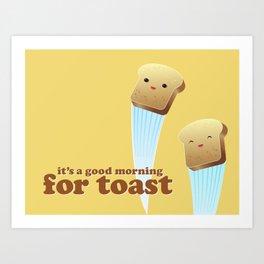 Happy Toast Art Print
