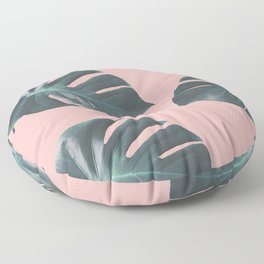 Oversized Palm in Pink Floor Pillow