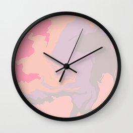 Marble Aesthetic Swirl - Pastel Wall Clock