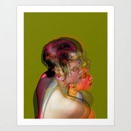 Natasha 1 Green Art Print