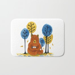 Coffee Bear Bath Mat