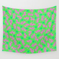 poodle Wall Tapestries featuring Poodle Pulitzer Party by Danadu