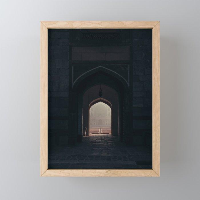 Frames of the great Humayun's tomb in Delhi Framed Mini Art Print