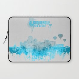 Albuquerque Monochrome Blue Skyline Laptop Sleeve