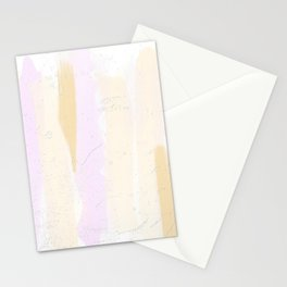 Pastel Pink and Brown Minimal Painting Stationery Cards