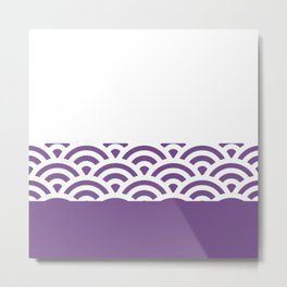 Rainbow Trim Ultraviolet Metal Print