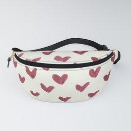 Watercolour Heart Pattern Fanny Pack
