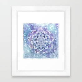 FREE YOUR MIND in Blue Framed Art Print