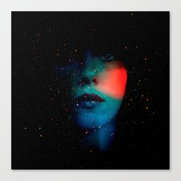 Cosmic Face in the Infinite Universe Canvas Print