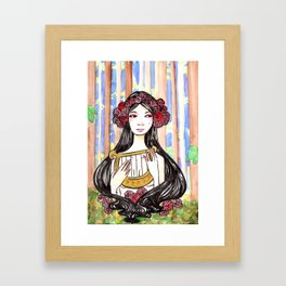 Harp Watercolor Painting by Grimmiechan Framed Art Print
