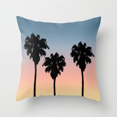 Sunset Palms Throw Pillow