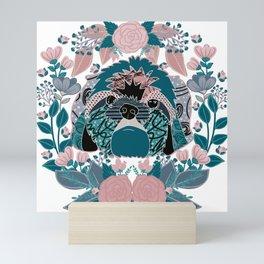 Shih tzu love Mini Art Print