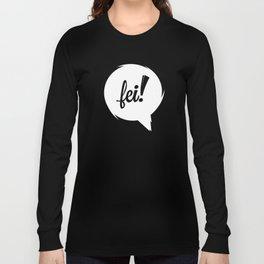 FEI wht cutout Long Sleeve T-shirt