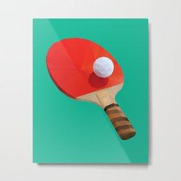 Ping Pong Paddle polygon art Metal Print