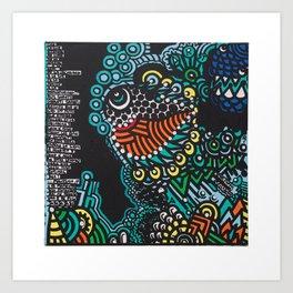 EN EL FONDO DEL MAR PASAN COSAS / AT THE BOTTOM OF THE SEA THINGS HAPPEN Art Print