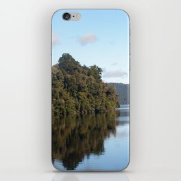 Morning skies over lake iPhone Skin