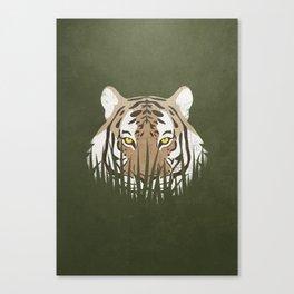 Hiding Tiger Canvas Print