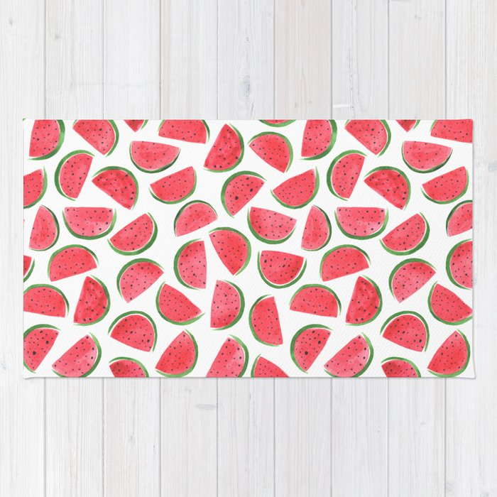Watermelons by Rachel Whitehurst Rug