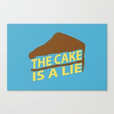 The Cake Is A Lie (Blue Version) Canvas Print