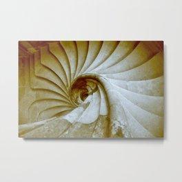 Sand stone spiral staircase 14 Metal Print