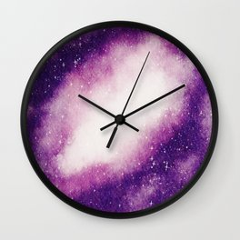 Beautiful Galaxy Watercolor 11 Wall Clock