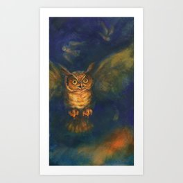 Owl Dream Art Print