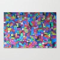 tetris Canvas Prints featuring Tetris by fieltrovitz
