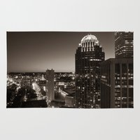 cityscape Area & Throw Rugs featuring Cityscape by P. Kurt Thorderson