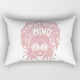 Open Your Mind in pink Rectangular Pillow
