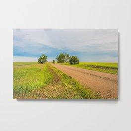 Backroads, North Dakota Metal Print