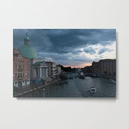 Dark clouds over Venice Metal Print