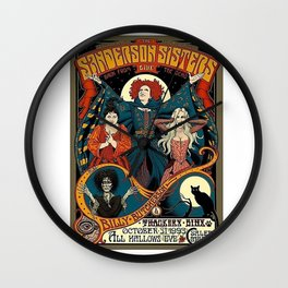 Sanderson Sisters Tour Poster Wall Clock