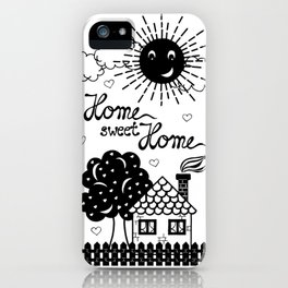 Home sweet Home Illustration iPhone Case