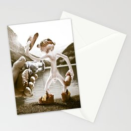 Naked Cowboy (retro color) Stationery Cards