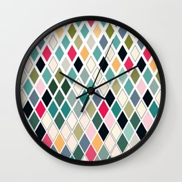 Colorful, Contemporary, Modern Awesome Diamond Pattern Wall Clock