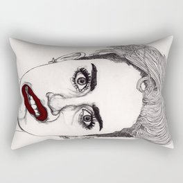 Miley with Red Lips Rectangular Pillow