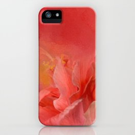 Salmon Hibiscus 3 - Floral iPhone Case