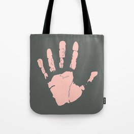 Pink Handprint Tote Bag