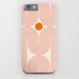 Abstraction_SUN_LINE_ART_STAR_Minimalism_001 iPhone Case
