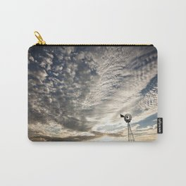 Sandhills Windmill @ Sunset Horizontal Carry-All Pouch
