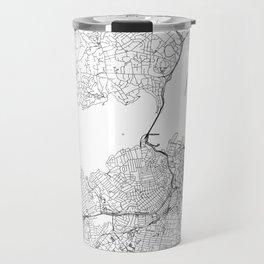 Auckland White Map Travel Mug