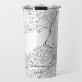 Auckland White Map Travel Mug