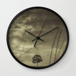 Black and White Tree Wall Clock