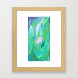Abstract summer Framed Art Print