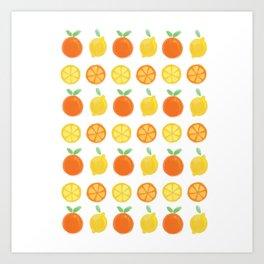 REPEAT I - CITRUS Art Print